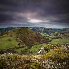 Castell Dinas Bran (dazcrawley88) Tags: sky mountain castle grass weather wales clouds ruins scenery view hill farmland fields llangollen castelldinasbran