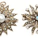 1006. Two Antique Gold Starburst Brooches