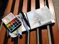 At the park (MagaMerlina) Tags: artjournal artistjournal sketchkit uploaded:by=flickrmobile flickriosapp:filter=nofilter