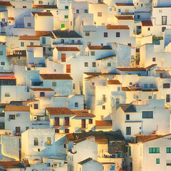 Abstract Casares (AllardSchager.com) Tags: winter painterly abstract cute architecture town spain nikon warm december village rooftops graphic warmth vivid sunny 11 andalucia vista romantic andalusia malaga squarecrop impressionistic gettyimages spanje 2012 graphical plastered rooftiles dakpannen vierkant casares 100faves 200faves 300faves andalucie d700 400faves nikond700 nikonfx allardone allard1 nikkor70200mmf28vrii fullframepower allardschagercom