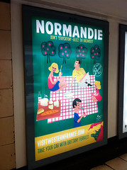 Normandie Poster (Paul Thurlby) Tags: france poster tourism paulthurlby picnic orchard vintage waterloo advertising normandie