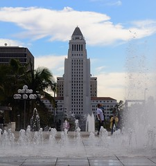 Los Angeles City Hall (Barry Wallis) Tags: california usa fountain losangeles cityhall barrywallis