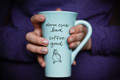 Week 8: Coffee LPTG13WK8 (Genevieve Barchak) Tags: alarm coffee 50mm mug 52weekchallenge canoneosdigitalrebelxs lptg13wk8