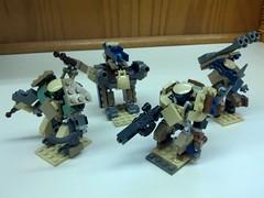Hellhounds, Alpha Team (Foghammer) Tags: mobile hard suit frame mecha mof0 mfz flickrandroidapp:filter=none
