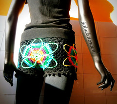 Crochet Shorts - Eclectic Flowers (babukatorium) Tags: pink flowers blue red orange black flower color green art wool fashion yellow star rainbow colorful purple pants recycled handmade turquoise teal oneofakind crochet moda violet style mandala retro used mohair daisy hexagon trousers hippie shorts psychedelic embellished bohemian multicolor whimsical leggings darkblue hotpants haken häkeln emeraldgreen crochê ganchillo royalblue uncinetto fattoamano かぎ針編み tığişi horgolt uvgreen babukatorium