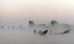 Ghost Boats (TigerPal) Tags: trip lake sunrise dawn boat fishing nikon fishermen burma traditional myanmar inlelake burmese intha nyaungshwe d700