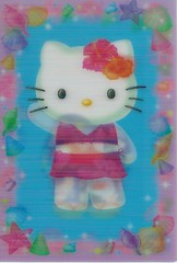 Sanrio Hello Kitty 3D postcard (paflip25) Tags: hello 3d postcard kitty sanrio koi kimono lenticular