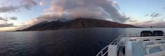 Hawaii boat cruise (covered filth) Tags: ocean cruise sea panorama mountains water volcano hawaii boat maui iphone5