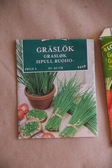 Gresslk / chives (@abrunvoll) Tags: vegetables gardening seeds chives hage fr gresslk 2013 gronnsaker