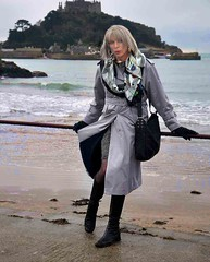 castle by the sea (natalie.nettle) Tags: beach stockings tv seaside cd windy sensual tgirl tranny transvestite romantic boho crossdresser bohemian harbourside stylish blackstockings convincing outdoorgirl outdoorlady