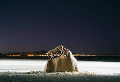 (andrew sea james) Tags: coyote city longexposure urban mountains statue night stars nikon desert lasvegas nevada 28mm nikkor f28 d600