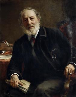 Portrait of Bernhard Plockhorst (1825-1907) artist: Rudolf von Voigtländer