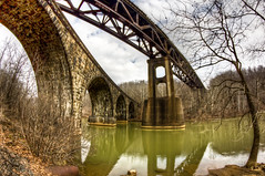 Crossing Over (Explored 3/15/13) (JD Seibel) Tags: railroad bridge canon river dam pa westernpennsylvania conemaugh explored 60d indianacounty