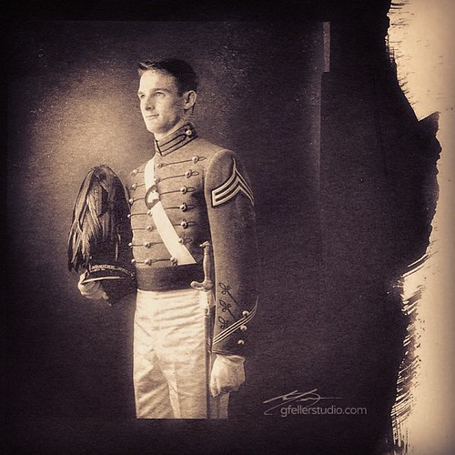 #platinum #paladium print of West Point cadet #igersokc #army