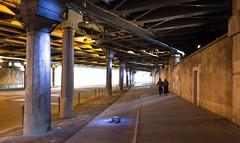 light underground (Ali K.) Tags: bridge light paris couple pillar