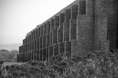 Old rifle range (Joe__M) Tags: old uk england blackandwhite bw brick monochrome wall canon fun photography interesting walk military explore devon massive ww2 mission shooting disused dslr derelict dartmoor riflerange eos7d