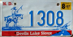 Devil's Lake Sioux License Plate (Suko's License Plates) Tags: plaque native indian nation band plate tribal licenseplate license tribe placa patente targa sioux matricula kennzeichen targhe numbertag nummerschild nativeamericanindians plaqueimmatriculation triballicenseplates indiantribeslicenseplates devilslake