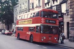 Oxford Daimler Fleetline CRG6LX/Northern Counties H44/26D 419 UFC419K loads in High Street, Oxford (John Hague) Tags: oxford coms daimler fleetline daimlerfleetline cityofoxfordmotorservices
