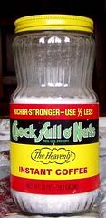 1970s Chock Full O Nuts coffee jar ...and dumpster story (mankatt) Tags: food vintage bottle o nuts retro full jar packaging 1970s chock