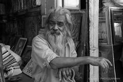 A Saint in Varindavan (sachink20) Tags: portrait india beautiful saint canon beard photography blackwhite hindu holi baba dpc 2013 varindavan sachin20 sachink20