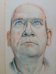 Timothy Schorre (LelandStruebig) Tags: portrait moleskine drawing prismacolor verithin uploaded:by=flickrmobile flickriosapp:filter=nofilter