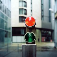 St Paul's Place (Delay Tactics) Tags: red green film rain st gardens square lights nikon peace dof sheffield pauls explore f2 758xxxx