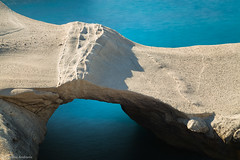 Milos II (Christos Andronis) Tags: sea orange white nature water rock landscape outdoors scenery quiet afternoon aegean azure peaceful calm greece balance serene simple cyclades milos beautyinnature