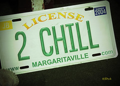 License 2 Chill (Vintage Summer 2004) (JDNEDream) Tags: fun funny humor licenseplate license collectible margaritaville chillout chillingout justhavingfun license2chill