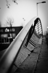 Side of the bridge (Jan de Graaf) Tags: bridge bw 35mm nikon zwartwit bokeh highcontrast brug f18 hoofddorp zw infocus highquality floriande d5000 nikkor35mm nikond5000 jandegraaf jdegraaf