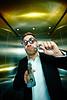 Let Me Get That For You (cszar) Tags: male leatherman model nikon gun lift elevator wideangle nikkor speedlight softbox aufzug cls multitool d600 deserteagle 1224mmf28g strobist lulzim captureone7