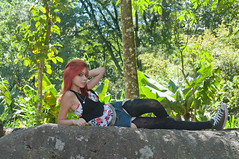 Little Girl (Vanderlei Gomes Fotografia :-]) Tags: brazil woman green nature girl sex brasil model dress natureza mulher modelo redhead teen garota paulo menina so baidu ruiva nucleo engordador magrinha