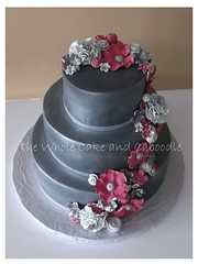 a little shine (The Whole Cake and Caboodle ( lisa )) Tags: pink wedding cakes cake silver pewter whangarei angeline caboodle waetford thewholecakeandcaboodle weddingcakeswhangarei discoverysettlers