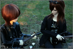 Guitar Lessons Day (BathorYume) Tags: doll guitar luna orion ren bjd vivien reminiscence kohaku elfdoll sooah bathoryume yukikira