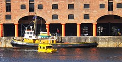 ALBERT DOCK SCENE. (tommypatto ~ IMAGINE.) Tags: yellow liverpool boats tugs albertdock frameit frameitlevel3 frameitlevel2 frameitlevel4 frameitlevel5 frameitlevel6