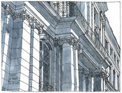 Liège, le Palais (gerard michel) Tags: architecture sketch belgium palais liège croquis