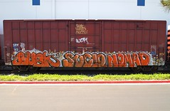 WOR (BGIZ) Tags: art graffiti trains nomad wor sucio buek