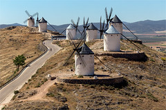 Windmills of Consuegra / Spain (zilverbat.) Tags: spanje travel zilverbat spain windmolen mills mill postcard wallpaper bookcover road landscape town route consuegra donquixotetrail donquixote book lamancha giants novel blackroofs tourism tourisme heritage habitat canon hills hill visit tripadvisor midden outdoor heuvelrug bolero ruta classic castilielamancha middenspanje ezel sanchopanza debolero donky province toledo