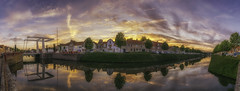 Brielle (PROSPECT2607) Tags: brielle avondfotografie bridge city capture colors composition colorful clouds cityscape exposure evening exposere endless landscape longexposure landschap langesluitertijd netherlands nederland panorama photography sky skyline urban view water