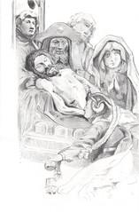Jesu Grablegung, nach Gstrower Altar (JENS01) Tags: bleistift zeichnung graphite drawing jesus christus altar pencilart pencildrawing pastel pencil charcoal art kunst zeichnen