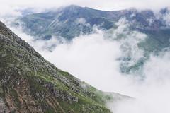 Slope (Alex Holyoake) Tags: scotland unitedkingdom gb mountain mountainrange bennevis river hill rockface driving mirror car clouds mist