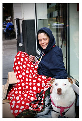 Lady and her dog (photo.kitayama) Tags: seattle street dog smile lady canon photography photo weed downtown smoke photojournalism images 28 40mm 6d