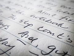 Handwriting -- the way it is (tarboxje) Tags: handwriting journal penmanship scribble