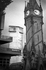 Leicester-centre-;-architectural-styles----270716 (chrisdpyrah) Tags: leicester clocktower lewisstower little woods architecture urban contrasts