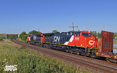 CN 3086 (Ramblings From The 4th Concession) Tags: cnrail cndundassub gelocomotives freighttrains diesellocomotives panasonicfz1000 cn3086 et44ac