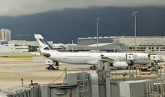 Cathay Pacific Airbus A330 (A. Wee) Tags: hongkong hkg airport   china   cathaypacific airplane jet airbus a330