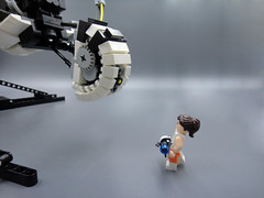Lego Dimensions GLaDOS 002 (E-Why) Tags: lego dimensions portal 2 glados moc robot video game cake chell gun mech