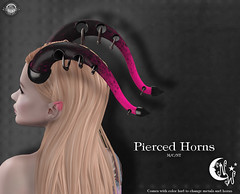 *NW* Pierced Horns (NeverWish) Tags: nw neverwish horns fantasy goth collective demon warrior