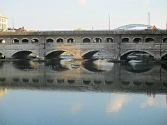 Mirrored aqueduct 1 (DannyAbe) Tags: rochester bridge aqueduct broadstreet eriecanal geneseeriver reflection arches