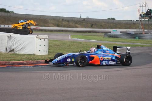 Jamie Caroline in British Formula 4 at Rockingham, August 2016