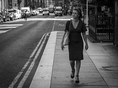 A City Beat (Leanne Boulton) Tags: monochrome road outdoor sidewalk urban street candid portrait streetphotography candidstreetphotography streetlife leadinglines composition woman female face facial expression look emotion feeling thoughtful pensive tone texture detail depth natural light shade shadow city scene human life living humanity people society culture canon 7d 50mm black white blackwhite bw mono blackandwhite glasgow scotland uk